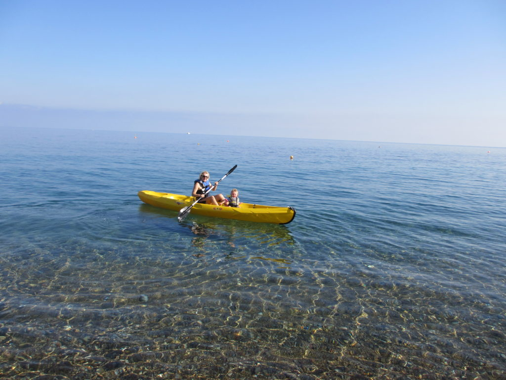 Kayaking at the Anassa