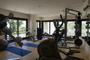Gym Flower Hill luxury villa Jamaica