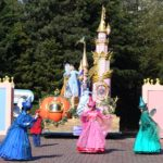 Sleeping Beauty's Fairy Godmothers leading Disney's Magic on Parade at Disneyland Paris