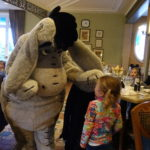 Meeting Eyeore at the Inventions Character Meal at Disneyland Paris