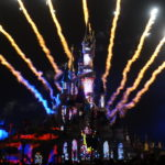 Fireworks behind Sleeping Beauty's Castle at Disneyland Paris Disney Dreams