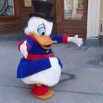 Scrooge McDuck meet and greet at Disneyland Paris
