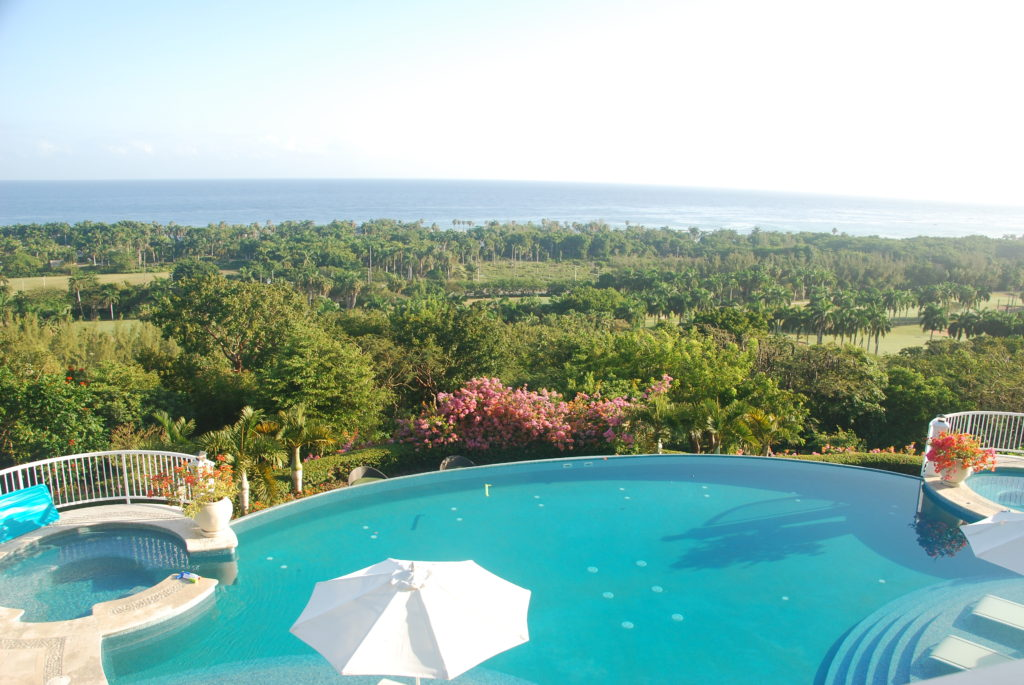 Flower Hill pool view luxury villa