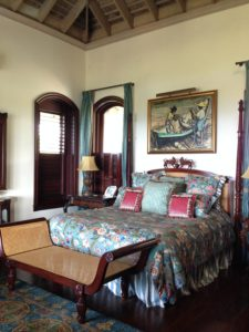 The upper level master-suite at Flower Hill Villa in Jamaica