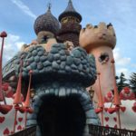 The Queen of Hearts castle in Alice's Curious Labyrinth