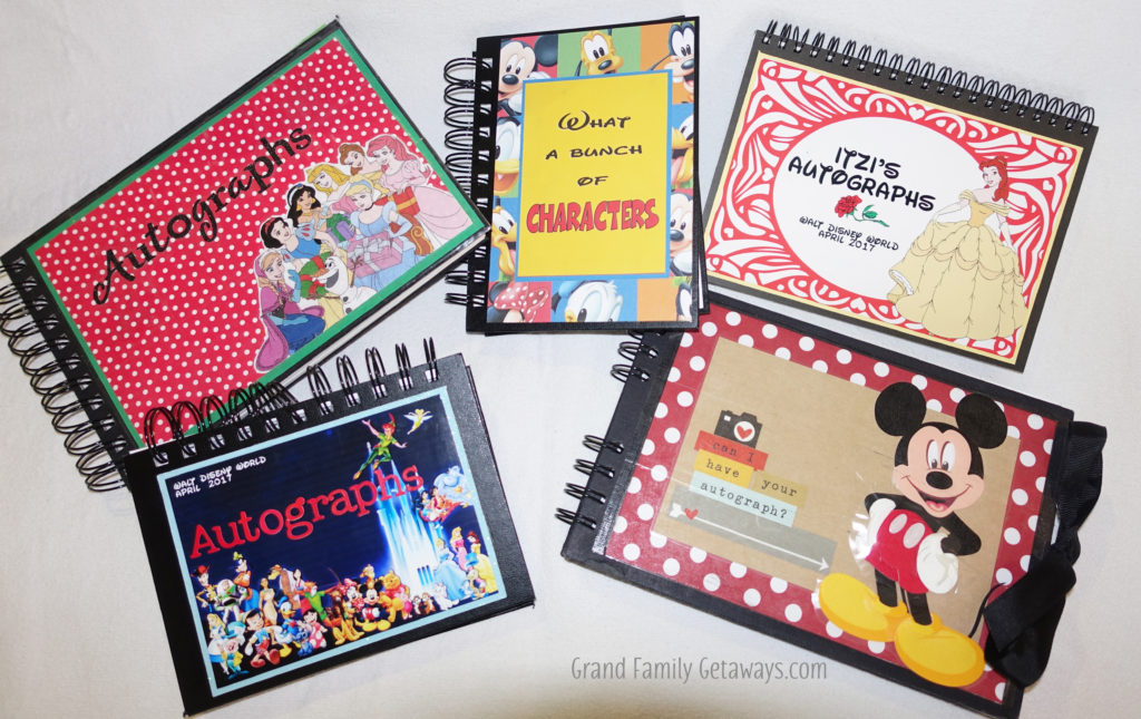 Preparing for Disney by making or buying autograph books in advance