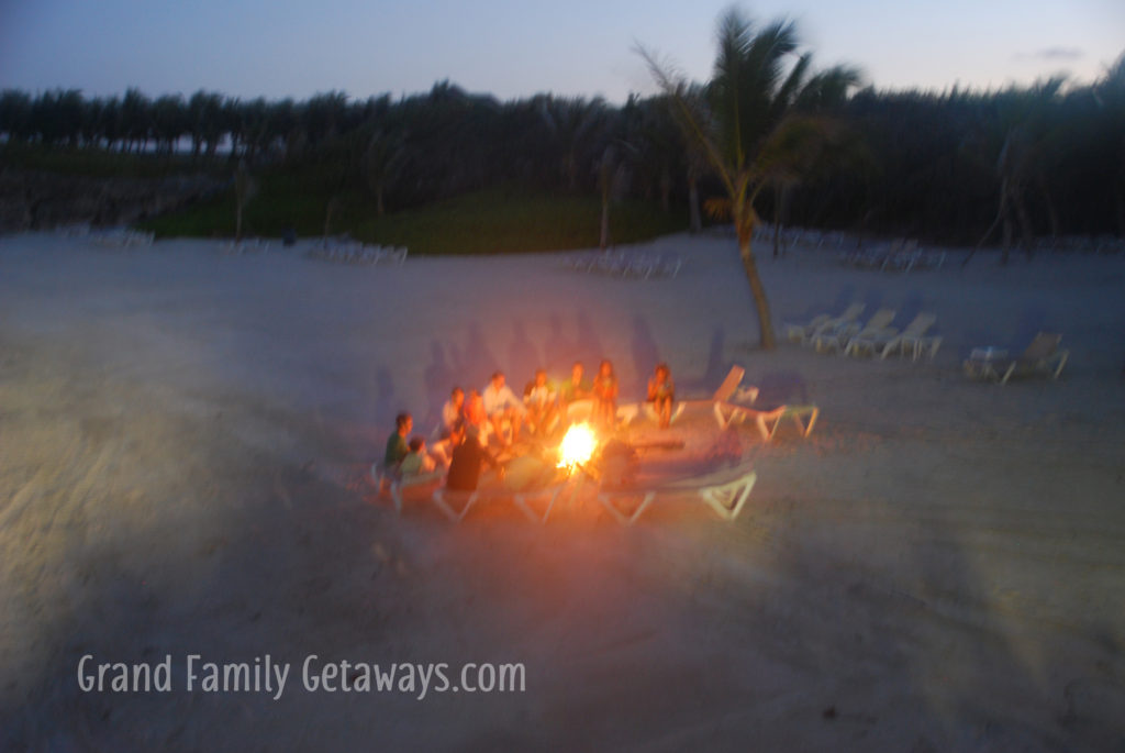 Los Corales 28 beach bonfire Grand Family Getaways luxury villa rental