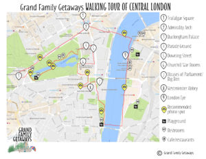 Walking tour map London top things to do with kids Grand Family Getaways